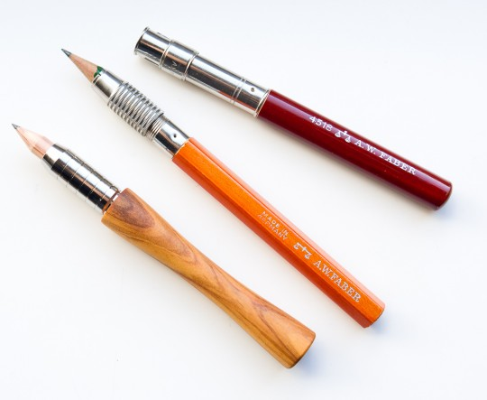 The Motus and two old Faber pencil extenders