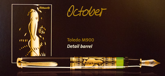 October's pen and the calendar sheet on the left (image © Pelikan)