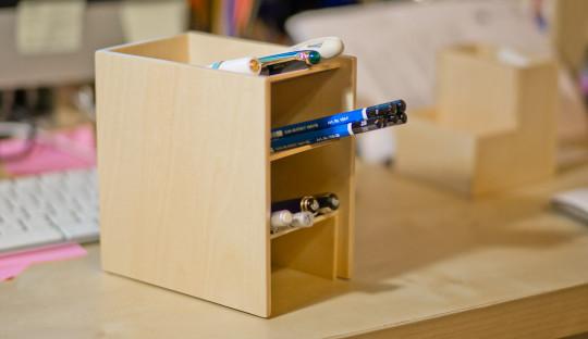 Muji - wooden desk rack