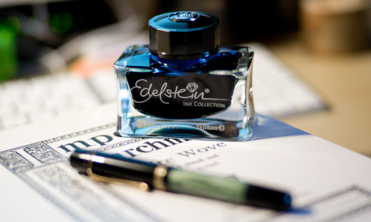 The Wanderlust ink bottle