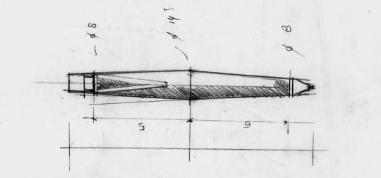 Hannes Wettstein's early sketch of the scribble