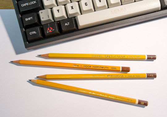 Different Koh-I-Noor pencils from Austria and the Czech Republic