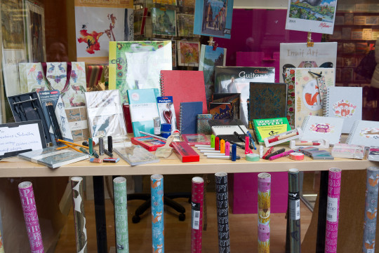 The shop window of Write Here