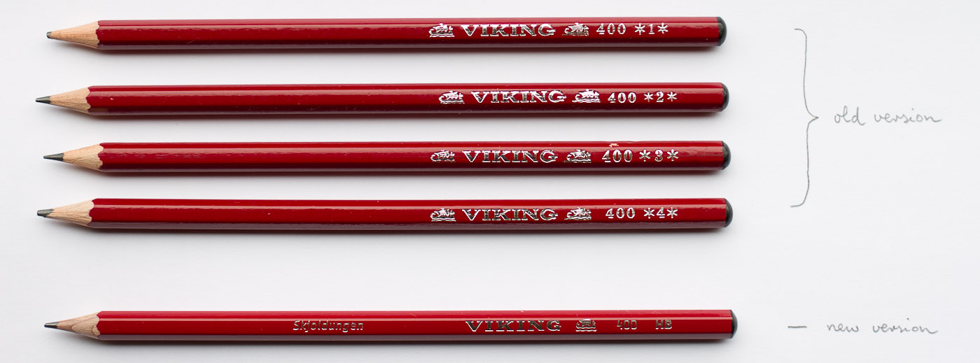 Viking skjoldungen 400 bleistift for Viking pencils