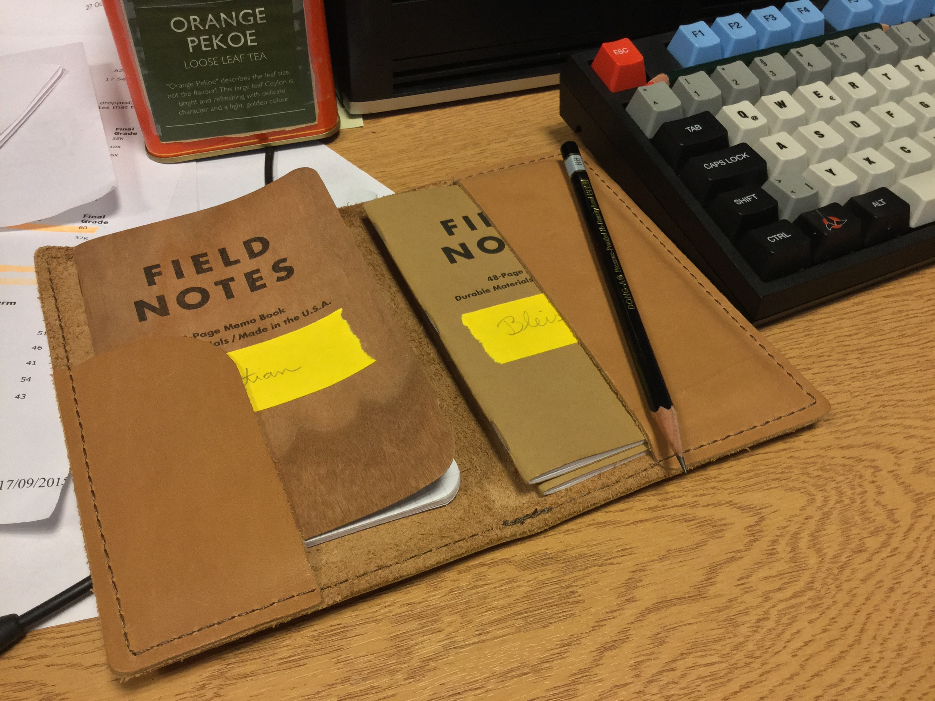 Labelling notebooks