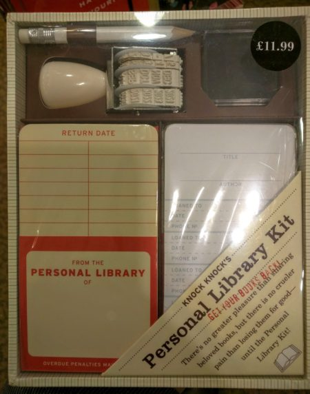 Personal library kit with genuine pencil