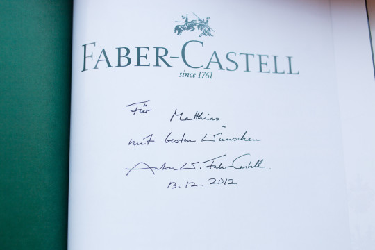 A signed book from the count. I got it from Sean.