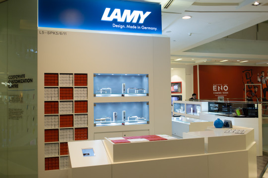 Lamy at Raffles City in Shanghai