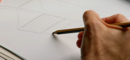 Max McMurdo using a Staedtler Noris pencil