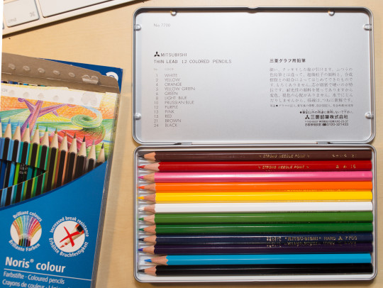Staedtler Noris colour and Mitsubishi 7700