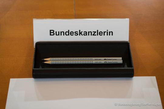 Angela Merkel's pencils (Image © Bundesregierung / Steffen Kugler)