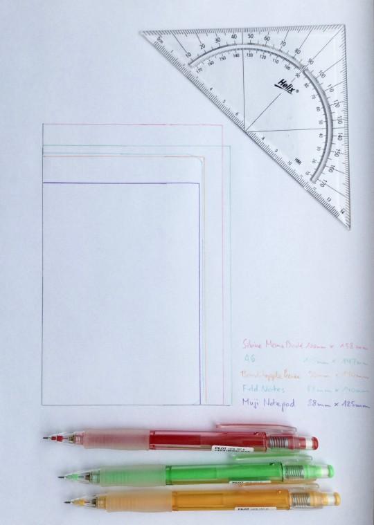 notebook size