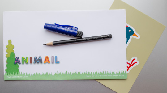 Faber-Castell Perfect Pencil II and Animail envelope
