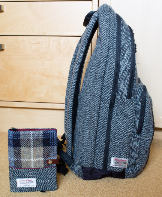 Esplanade London's Harris Tweed Hobonichi Techo cover and my Timberland bag