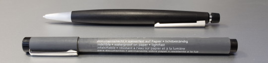 Staedtler Pigment Liner and Lamy 2000