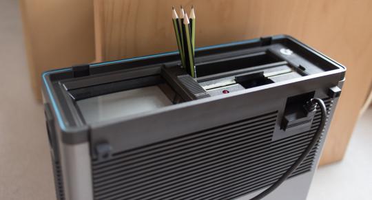 The Commodore SX-64 as a pencil pot