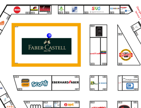 Faber-Castell has a big stand, too. Hindustan pencils is not far, stand A-13.