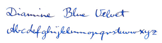 Blue ink comparison Kaweco Rotring Diamine Cartier