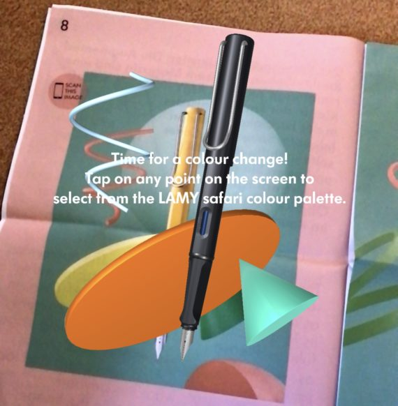 The app lets you pick the colour for the Lamy Safari
