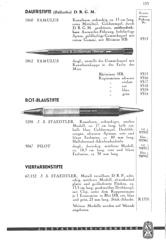 Staedtler Catalogue 1935