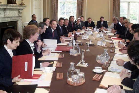 Blair's cabinet table in 2001. Picture © Getty